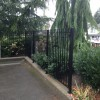 5' high picket fence with relief channel
