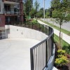 Curved landscape rail